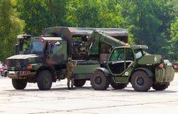 德国军队卡车,奔驰车Zetros 免版税库存照片