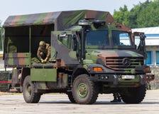 德国军队卡车,奔驰车Zetros 库存图片