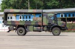 德国军队卡车,奔驰车Zetros 库存照片
