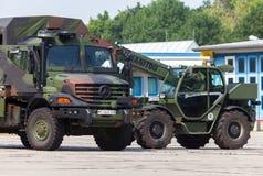 德国军队卡车,奔驰车Zetros 图库摄影