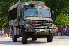 德国军队卡车,奔驰车Zetros 免版税图库摄影