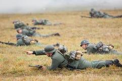 德国军队防御 库存照片