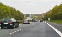 德国南部高速公路的风景 免版税库存照片