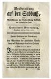 德国古色古香的报纸的页 免版税库存照片