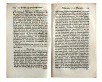 德国古色古香的报纸的页 库存照片