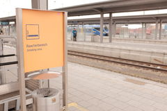 德国吸烟区 库存图片