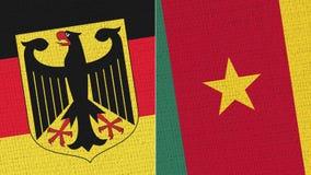 德国和喀麦隆旗子 皇族释放例证