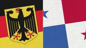 德国和巴拿马旗子-织品纹理 皇族释放例证