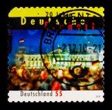 德国团结的庆祝在柏林, serie,大约2010年 库存照片