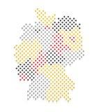 德国地图和旗子颜色 库存照片