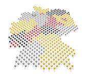 德国地图和旗子颜色2 免版税库存照片