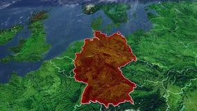 德国地图和边界,中欧 库存例证