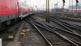 德国地方快车在法兰克福Hauptbahnhof 影视素材