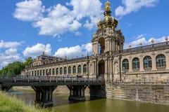 德国地标-德累斯顿画廊,德累斯顿Zwinger 库存图片