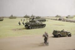 德国坦克在操作Prokhorovka时 库存图片