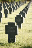 德国墓碑行 免版税库存照片