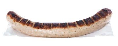 德国多味腊肠(在白色) 库存图片