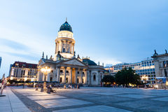 德国大教堂在Gendarmenmarkt,一个著名正方形在柏林, G 免版税库存图片