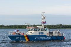 德国巡逻艇BP61普利希尼茨县 免版税图库摄影