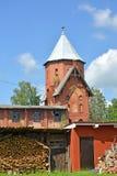 德国建筑的老水塔1890 Gvardeysk,钾 库存图片