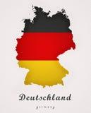 德国德国艺术地图 免版税库存图片