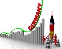 德国成功图表  图库摄影