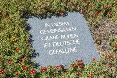 德国战争坟墓Maleme 库存照片