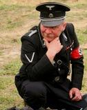 德国战士 形成人ss standartenfuehrer 图库摄影