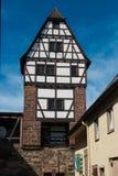 德国房子中世纪斯图加特 库存图片