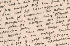 德国手写从1924年-细节 免版税库存照片