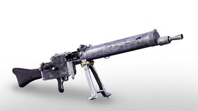 德国手工机枪MG 08模型1908年 免版税库存图片