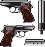 德国手枪 向量例证
