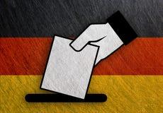 德国手表决,公民投票旗子金属葡萄酒,减速火箭 图库摄影