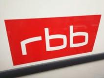 德国播报员RBB商标 库存照片
