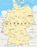 德国政治地图 库存例证