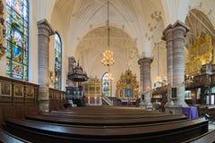 德国教会内部在斯德哥尔摩,瑞典 库存图片