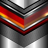 德国旗子几何金属 免版税库存图片