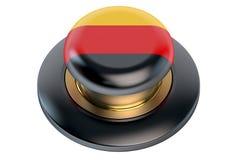德国旗子按钮 免版税库存照片