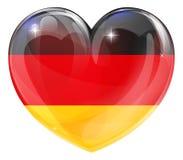 德国旗子爱心脏 库存例证
