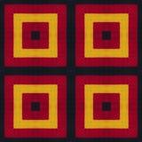 德国旗子颜色 钩针编织被编织的样式背景,顶视图 与镜象反射的拼贴画 无缝的万花筒蒙太奇为 免版税图库摄影