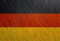 德国旗子,葡萄酒,减速火箭,被抓 免版税库存图片