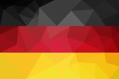 德国旗子-三角多角形样式 免版税库存照片