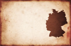 德国映射葡萄酒 免版税库存图片