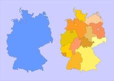 德国映射 免版税库存图片