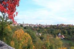 德国村庄Rothemburg ob小室Tauber 库存图片