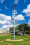德国样式五月柱在Fredericksburg得克萨斯 图库摄影