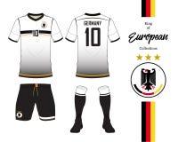 德国橄榄球国家队制服 库存照片