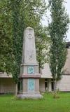 德国汉堡 对著名德国教育家和作家约翰格奥尔BÃ ¼ sch 1728 -1800的纪念碑 免版税库存图片