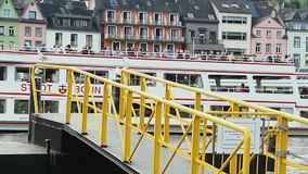 德国河运,美丽的传统房屋建设 股票录像