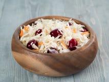 德国泡菜用蔓越桔和红萝卜 库存照片